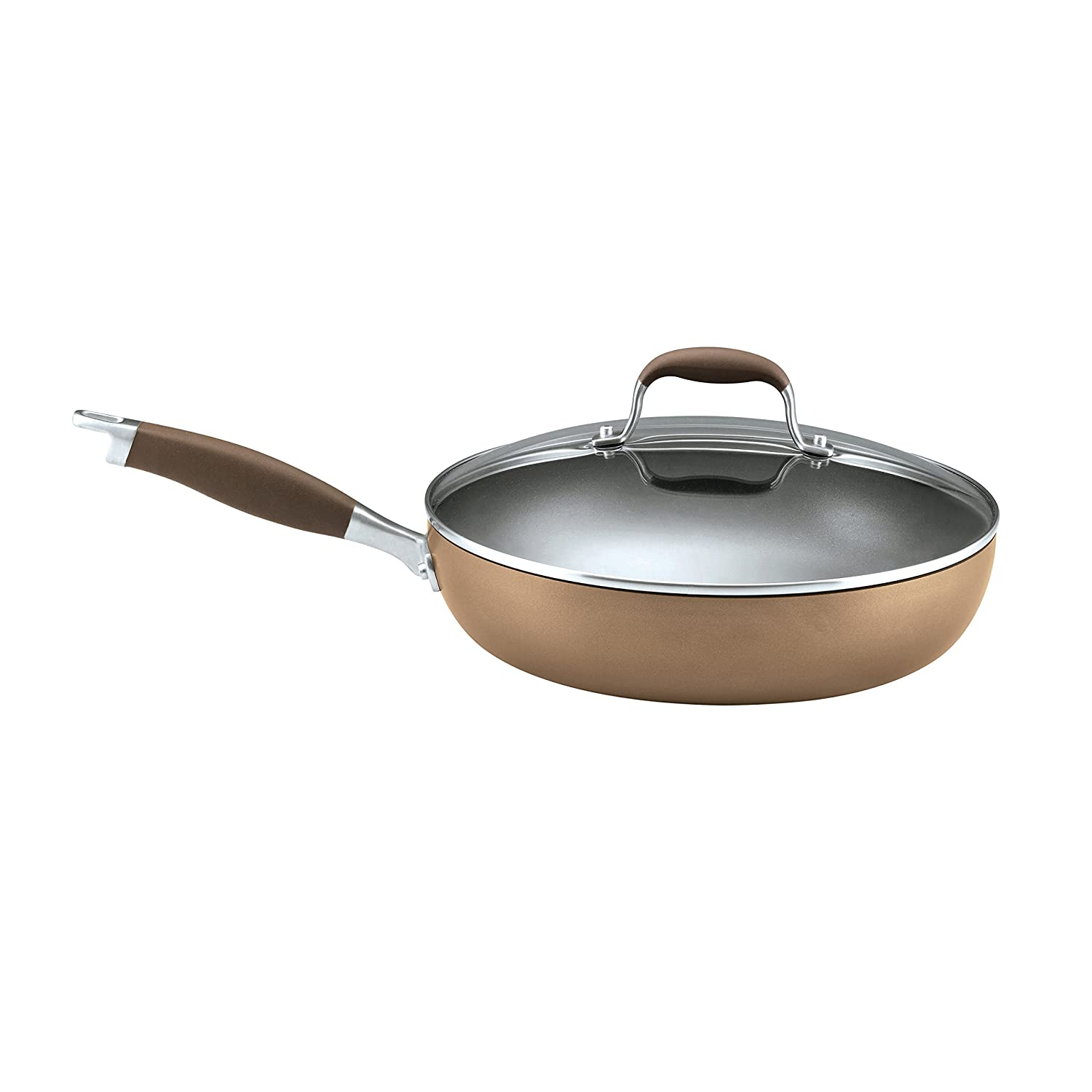 Anolon Advanced Bronze Hard-Anodized Nonstick 12-Inch Covered Deep Skillet 82246