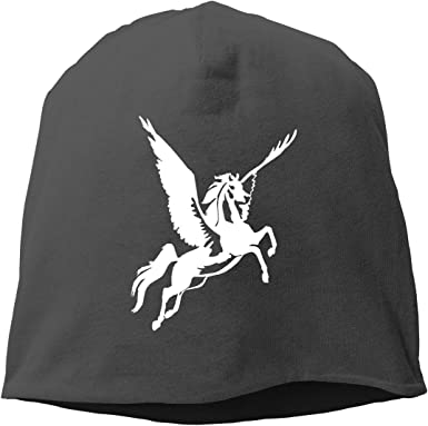 Headscarf Horse Unicorn Flying Hip-Hop Knitted Hat for Mens Womens Fashion Beanie Cap