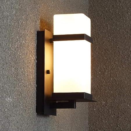 LED Exterior luz de Pared Impermeable Negro Hierro minimalismo para Pasillo escaleras Exteriores Paredes balcón Luces iluminación,Warm,405x340mm: Amazon.es: Hogar