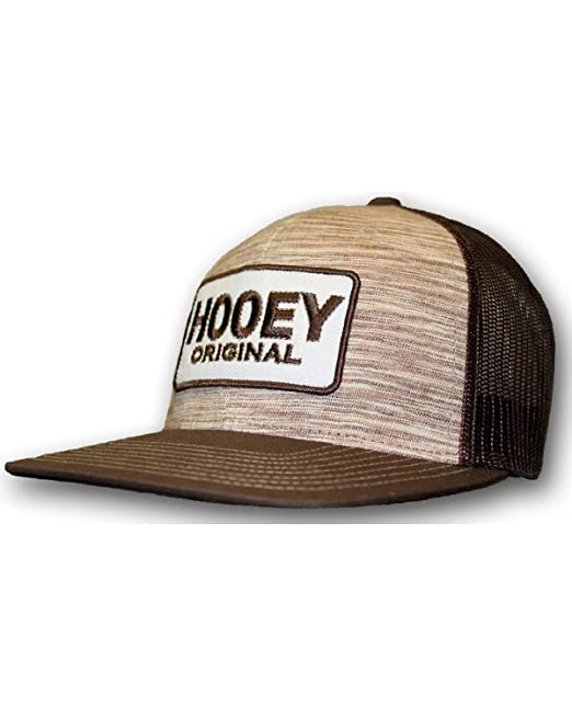 buy online 43dc1 435a3 HOOey Men s Original Logo Trucker Hat Brown One Size at Amazon Men s  Clothing store