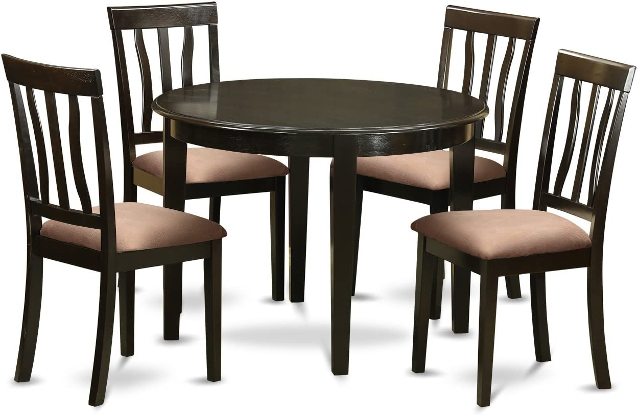 BOAN5-CAP-C 5 PC small Kitchen Table set-Kitchen Table and 4 Kitchen Chairs