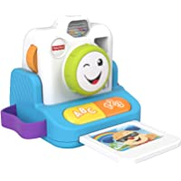 Fisher-Price GJW19 Laugh and Learn Click and Learn Instant Camera, early role play toy with music and light