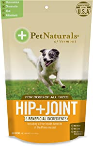 Pet Naturals - Hip + Joint for Dogs, Daily Joint Support Supplement, 60 Bite-Sized Chews (070089E.060)