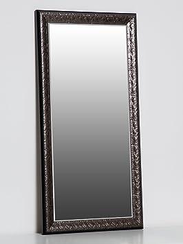 Miroir Mural Anthracite 80 X 40 Cm Avec Cadre En élégant Et