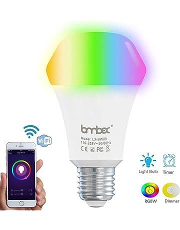 9W Wifi Bombilla inteligente Color regulable Luz LED, Funciona con casa de Alexa y Google