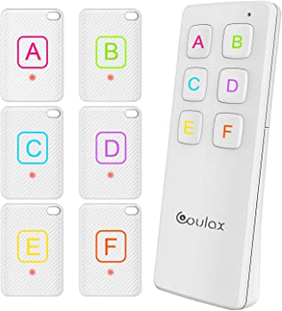 COULAX Wireless Key Tracker with 6 Receivers and 1 Transmitter