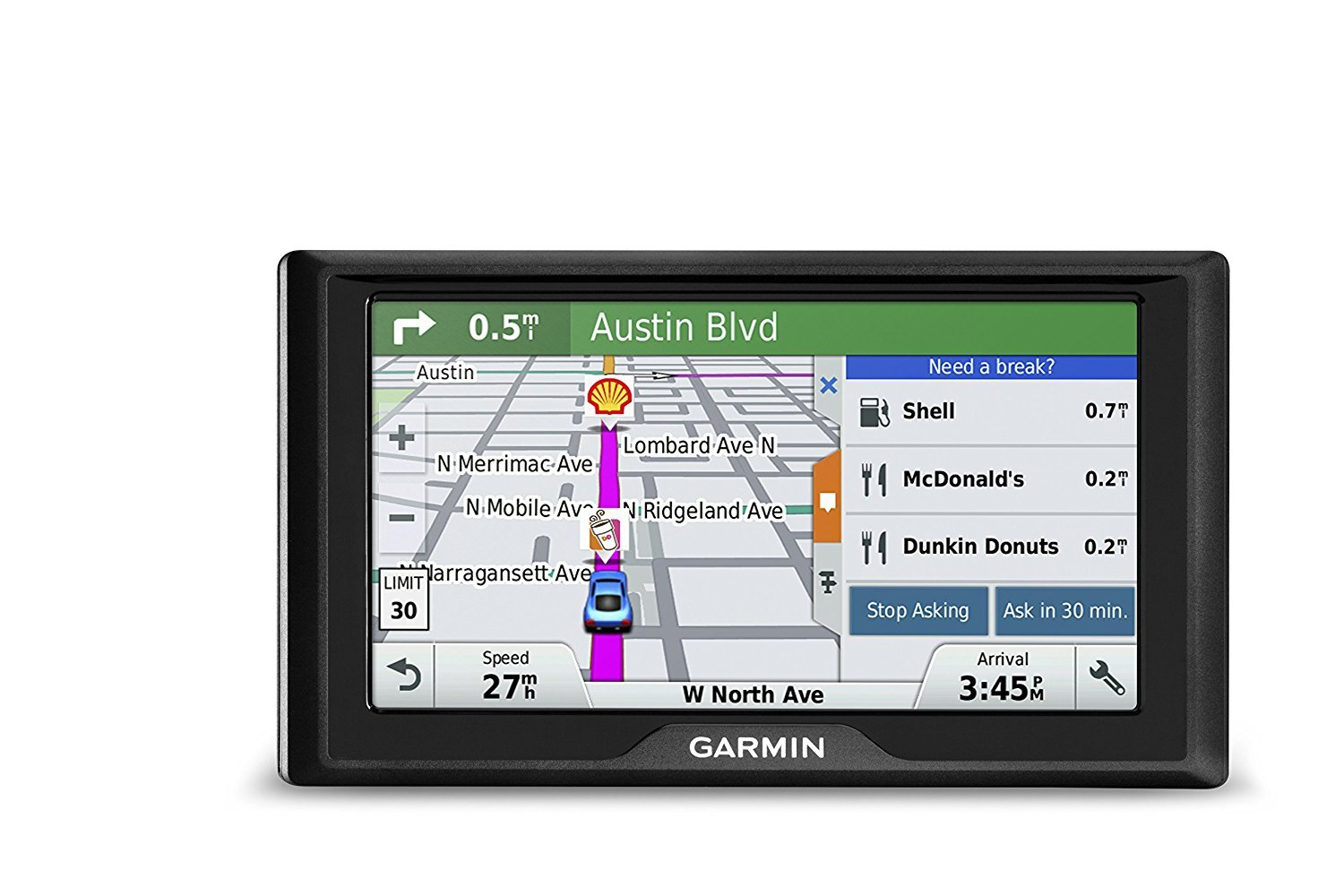 Garmin Drive 60 USA + CAN LM GPS Navigator System with Lifetime Maps, Spoken Turn-By-Turn Directions, Direct Access, Driver Alerts, and Foursquare Data (Certified Refurbished)