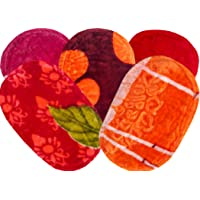 SHF Polyester Door Mats for Entrance Welcome (33x53 cm, Multicolour) -Set of 5 Piece