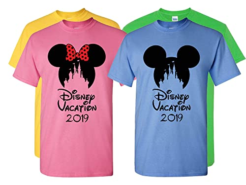 Mickey Mouse Swirl ears T-shirt Disney parks matching family Adult Kids Shirts