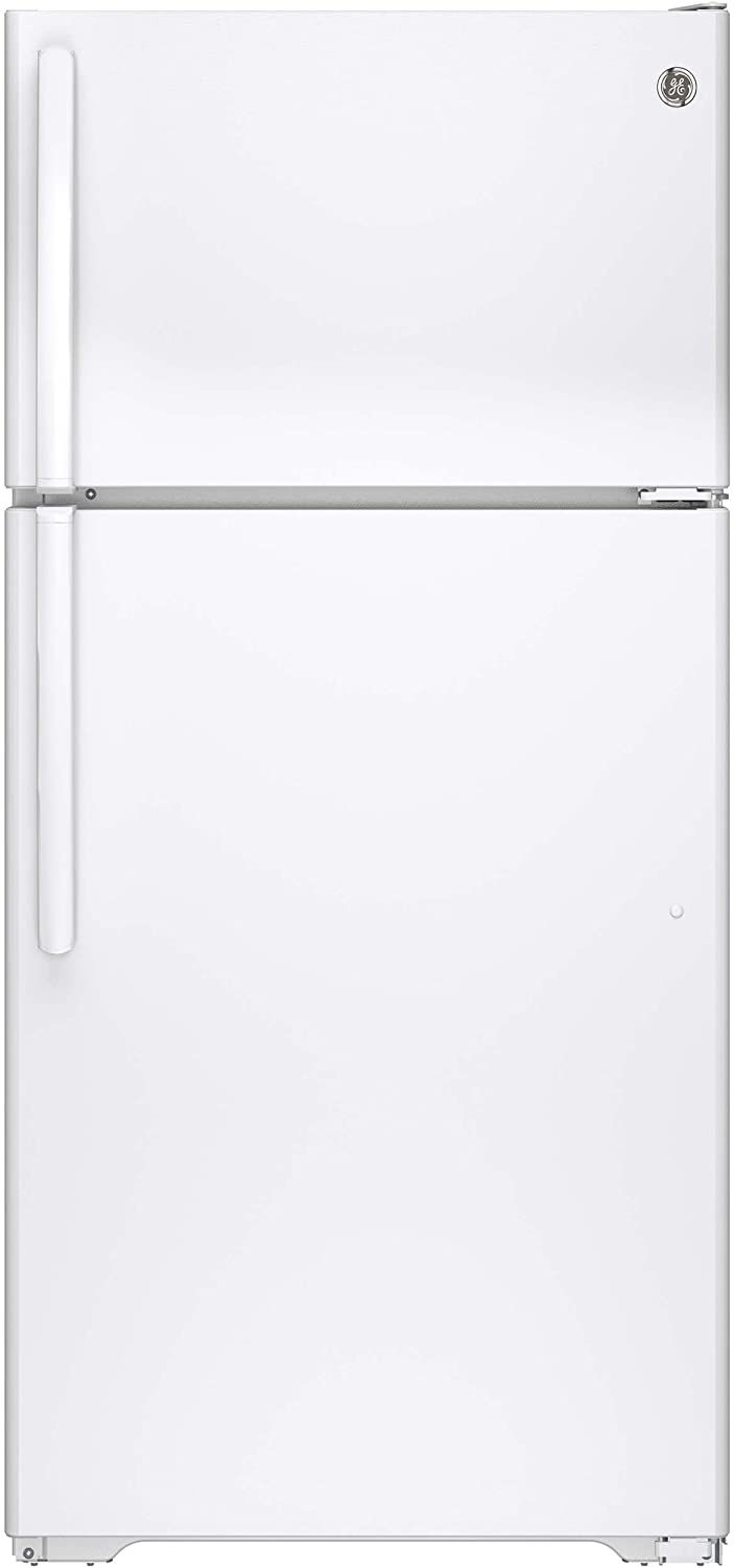 GE GTE15CTHRWW 14.6 Cu. Ft. White Top Freezer Refrigerator - Energy Star - Right Hinge