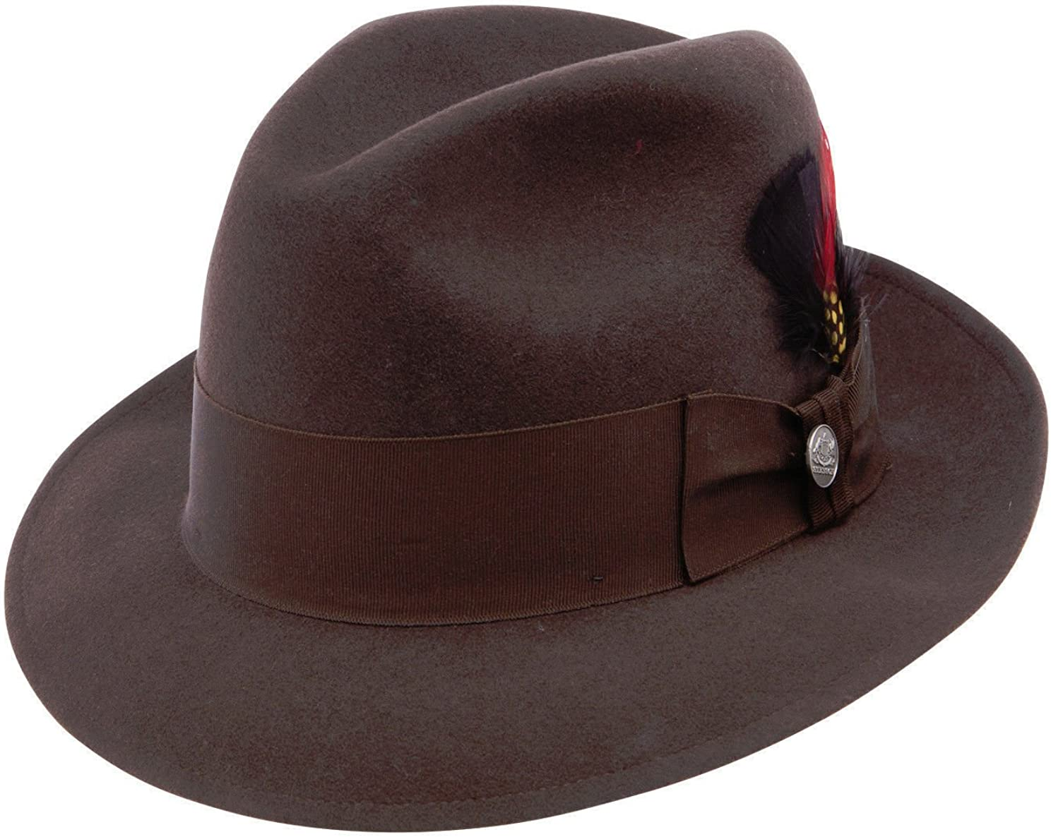 Navy Stetson /& Dobbs TWFRDK-8220 Men/'s Frederick Wool Felt Fedora Hat 7 3//8