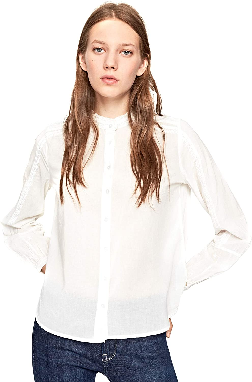 Pepe Jeans Blusa Alaris Blanco Mujer: Amazon.es: Ropa y accesorios