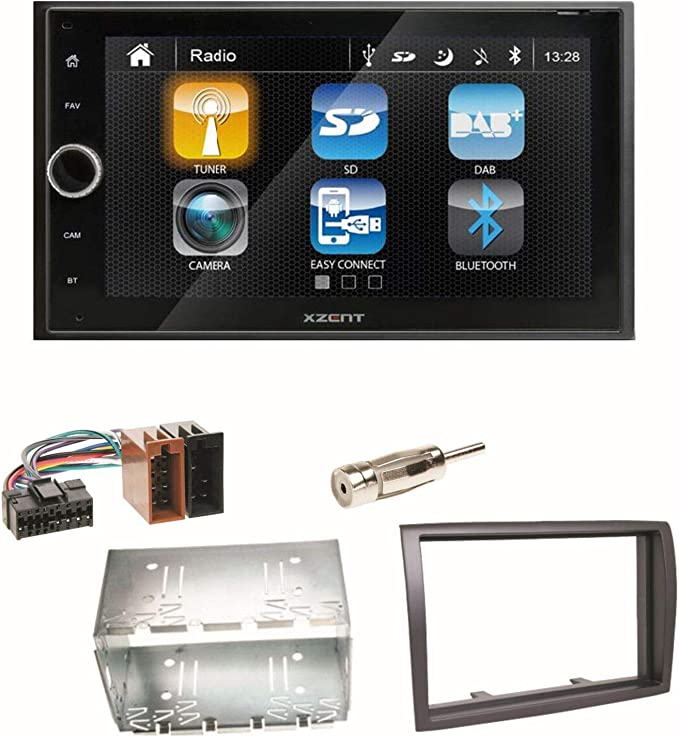 Xzent X 222 Moniceiver Bluetooth 2 Din Usb Dab Digitalradio Autoradio Einbauset Für Fiat Ducato Boxer