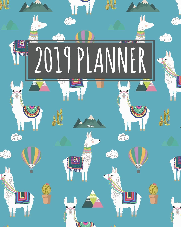 Llama 2019 Planner: January to December Agenda Monthly ...