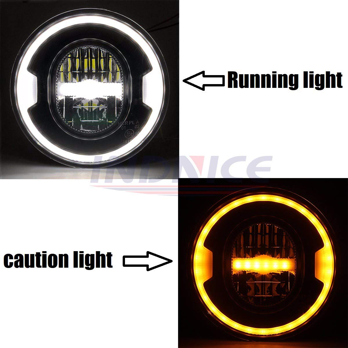 2018 newest headlight 7 inch round led headlight with angle eye for harley FLHTCU motorcycle softail headlights Black B07HL7S1G1