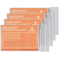 ANMEILU Emergency Mylar Thermal Blankets - 4 Packs or 6 Packs Space Blanket Survival kit Camping Blanket. Perfect for Outdoors, Hiking, Survival, Bug Out Bag ,Marathons or First Aid