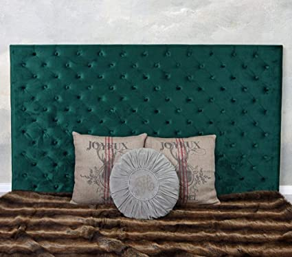 Palazzo Fha043 - Cabecero de cama de terciopelo, diseño de somier