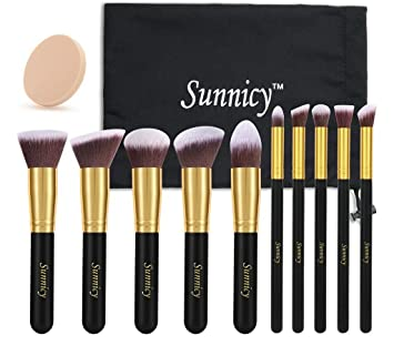 Sunnicy Make Up Pinselset Kabuki Foundation Pinsel Puderpinsel