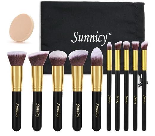 128 opinioni per Sunnicy 10 pezzi Set premium di pennelli sintetici Kabuki per il make up per