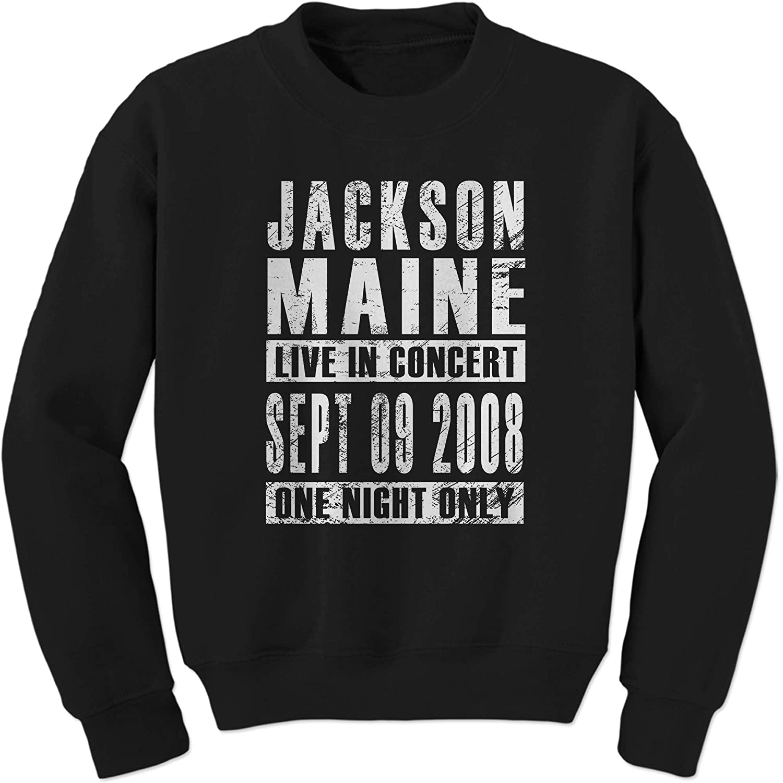 FerociTees Jackson Maine Born Star Crewneck Sweatshirt