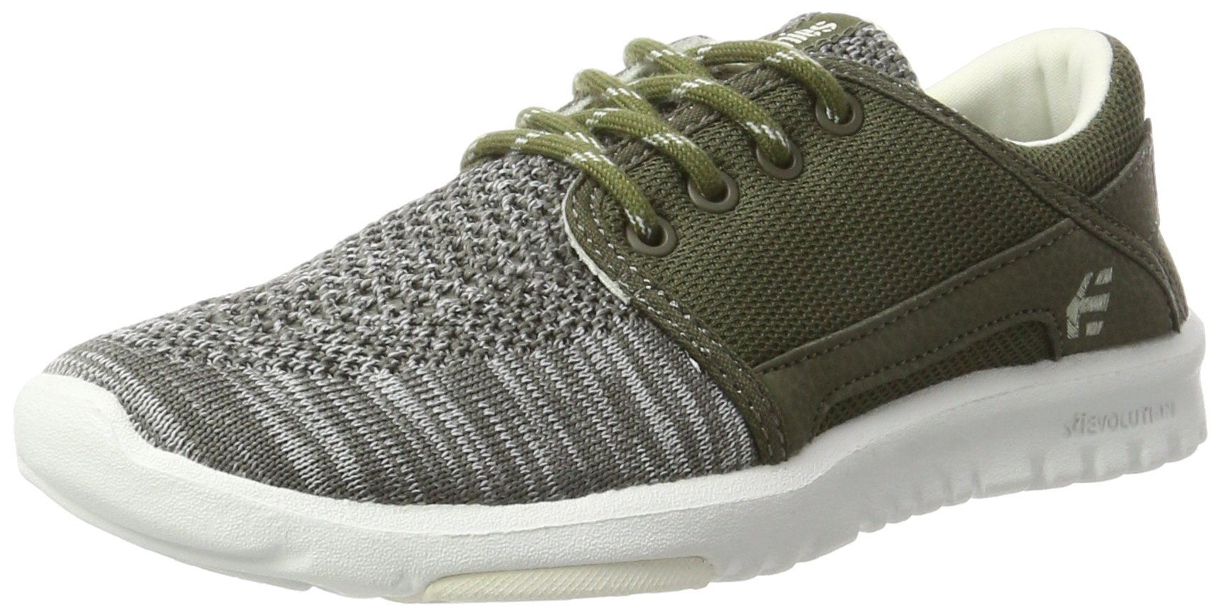 Etnies Womens Women's Scout YB W's Skate Shoe, Olive/White, 8 Medium US