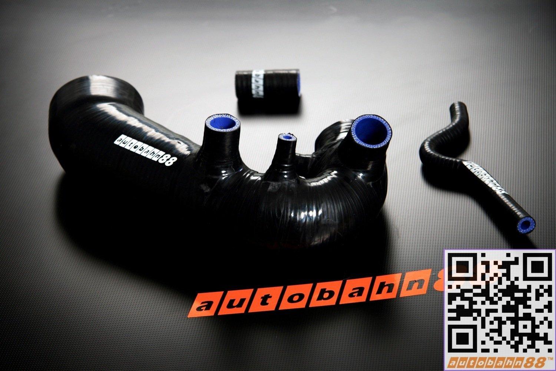 Autobahn88 Kit de manguera de silicona de admisión de aire, Modelo ASHK92-BK (Negro - sin sistema de abrazadera): Amazon.es: Coche y moto