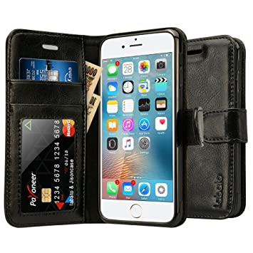 bed87cfb47 Labato iPhone6S/iPhone6 ケース 手帳型 本革レザー TPU スタンド カードポケット 写真窓