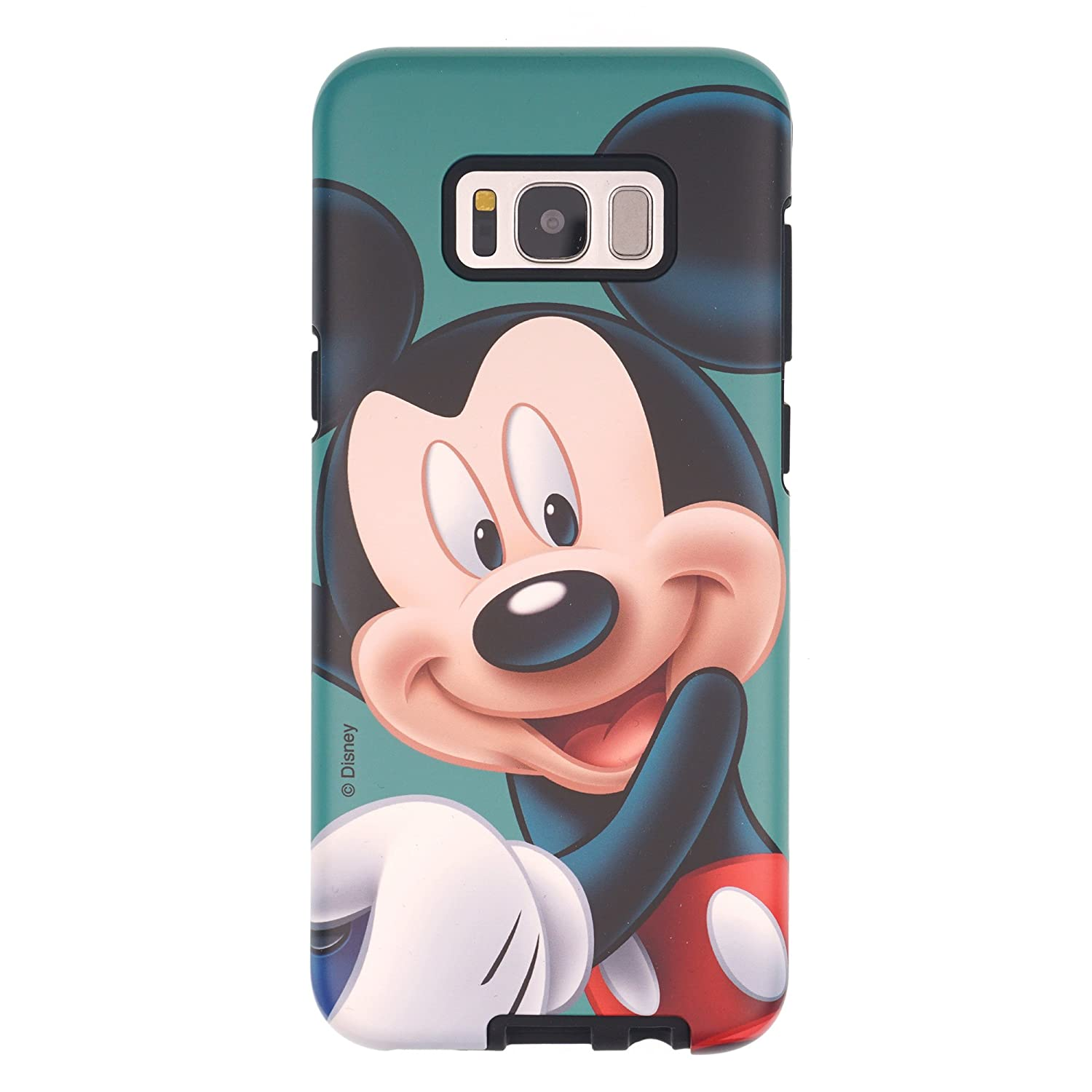 Galaxy Note5 Case, Disney Cute Mickey Mouse Layered Hybrid [TPU + PC] Bumper Cover [Shock Absorption] for Samsung Galaxy Note5 - Smile Mickey Mouse