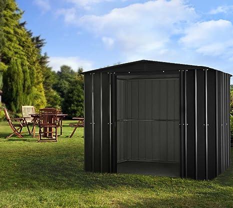 GLOBEL Industries metal jardín cobertizo Jardín Casa Melbourne 86//234 x 175 x 198 cm (Alto)//4, 1 m²//cobertizo metal tejado: Amazon.es: Jardín