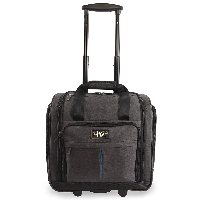 ORIGINAL PENGUIN Men s Ethan Wheeled Under The Seat Carry On Bag, Black Crosshatch