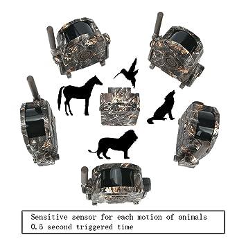 Bestguarder SY007 disparador de caza alarma cámaras 360 grado caza Wildlife de alarma de seguridad detector