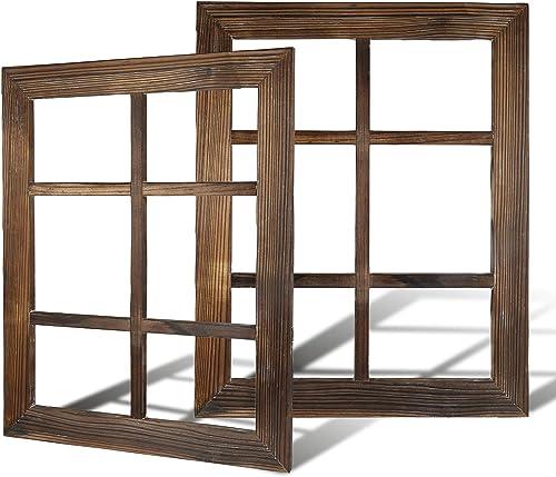 DOCMON Rustic Wall Decor-Farmhouse Decor-Window Barnwood Frames -Home Decor for Home or Living Room, 2, 18.1X22.1X1