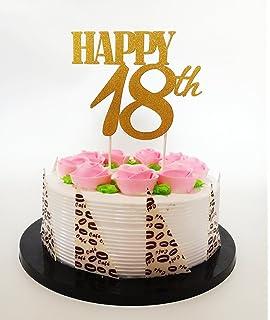 The Cake Emporium Ltd 18 Geburtstag Kuchen Topper Extra Grosse Zahl
