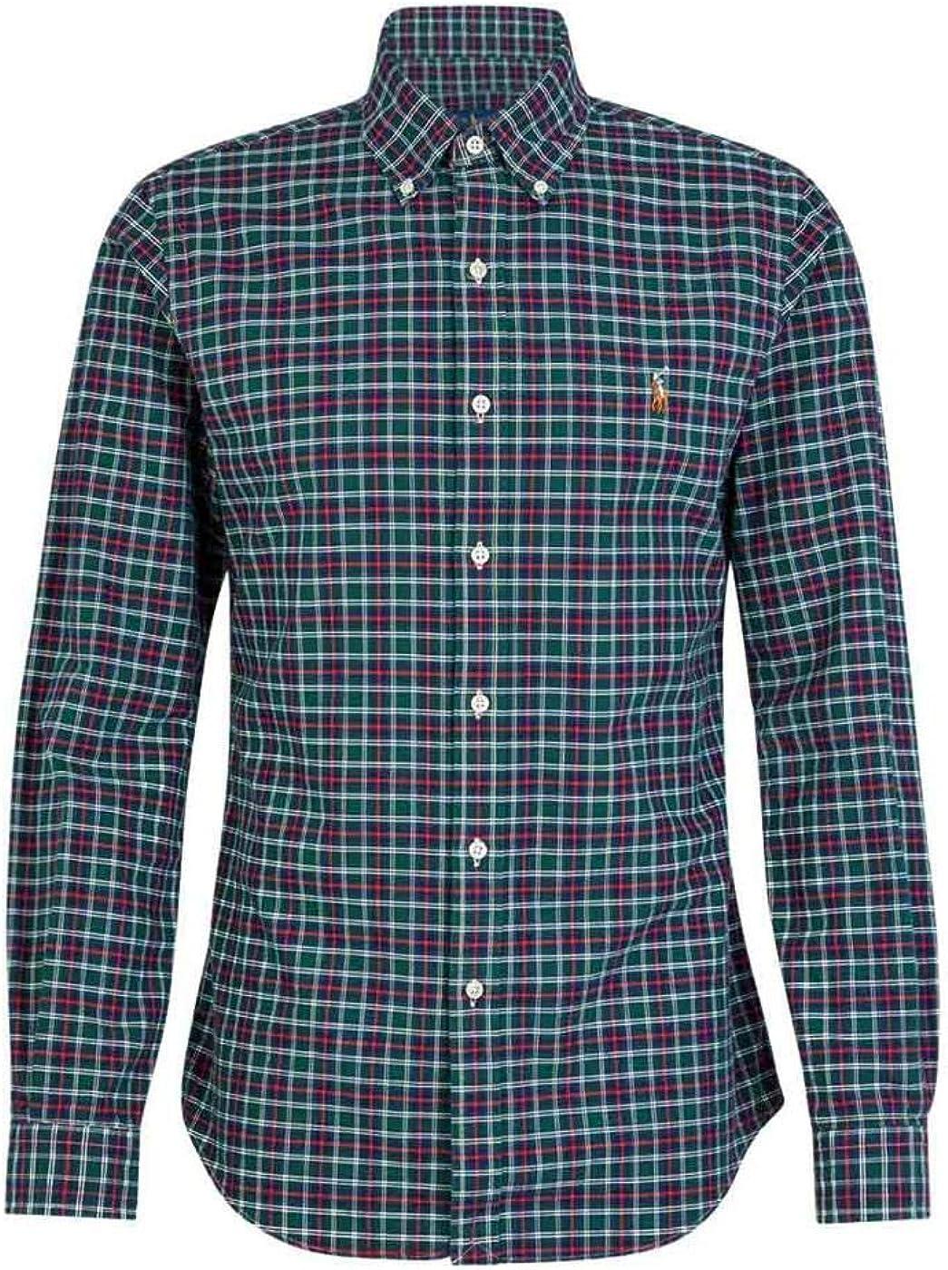 Camisa Ralph Lauren SL BD Sport Cuadros Verde Hombre Small Verde ...