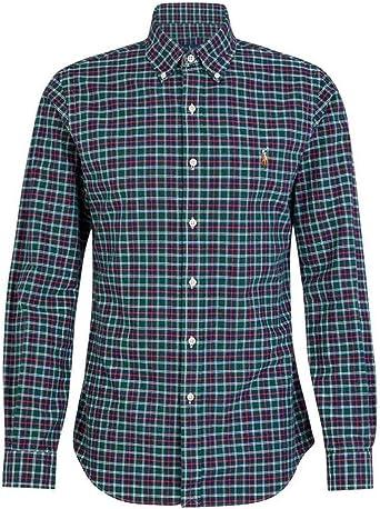 Camisa Ralph Lauren SL BD Sport Cuadros Verde Hombre Small Verde: Amazon.es: Ropa y accesorios