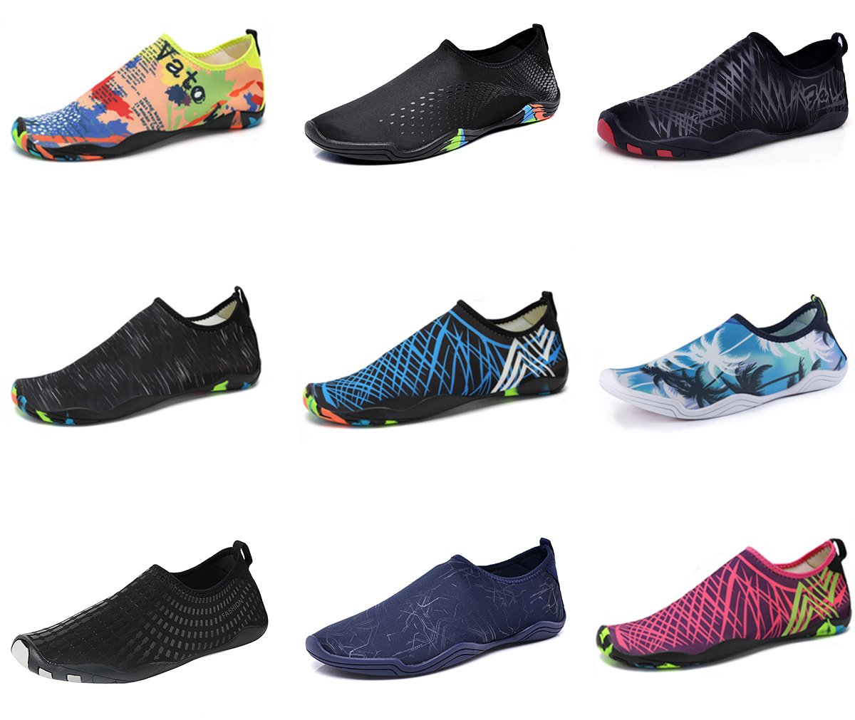 Water Shoes Mens Womens Beach Swim Shoes Quick-Dry Aqua Socks Pool Shoes for Surf Yoga Water Aerobics (Purple, 38 )