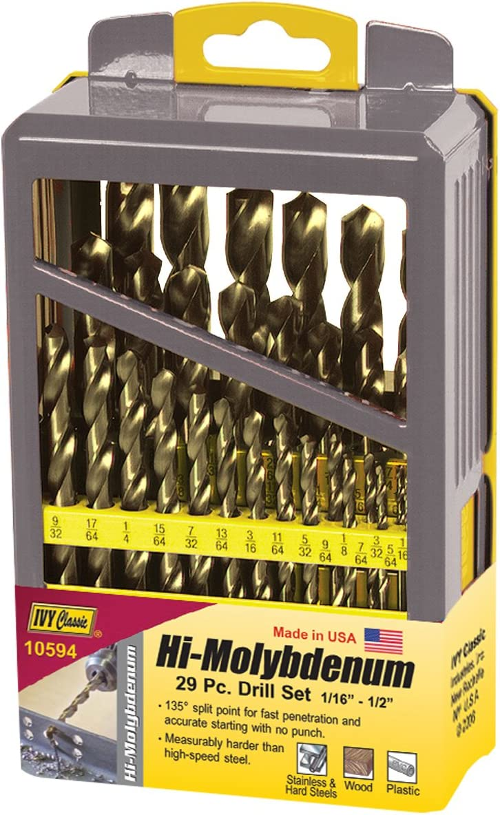 USA Made Black Gold 12 NEW 9//32 Mechanical Drill BITS HSS  BITS