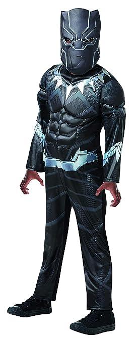 Luxuspiraten – Disfraz Infantil Black Panther Deluxe de Avengers ...
