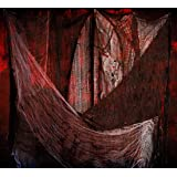 """Halloween Creepy Scary Cloth Decorations - 31.5"""" x 59"""" Black Spooky Giant Gauze Cloth Spider Web for Halloween Party…"""
