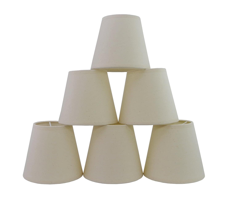 Lot de 6 Pièces Abats-jour de Lampe en Tissu pour Lustre de Bougeoir (natural)