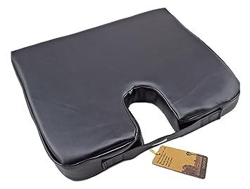 Amazon.com: noppor en forma de cuña cojín de asiento de piel ...