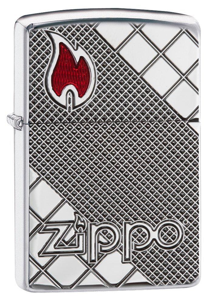Zippo Armor Fliesen Mosaik Regular Feuerzeug – Hochglanz Chrom