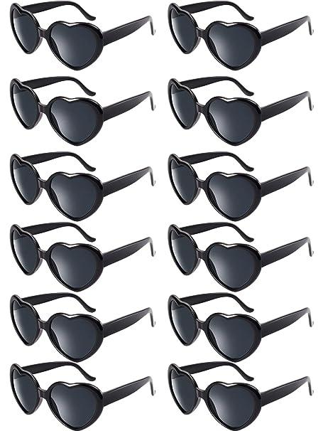 Amazon.com: Blulu - 12 gafas de sol con forma de corazón de ...