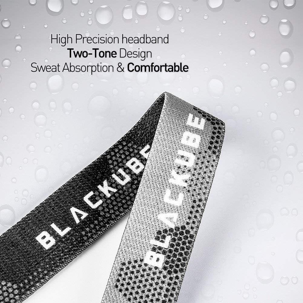 Blackube Lampe Frontale LED Puissante Torche Frontale Lampe Capteur Phare 4 Modes pour Course Camping randonn/ée Chasse p/êche 2Piles AAA Inclus