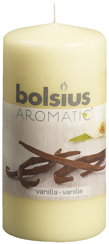 Bolsius 8717847059468 Candela a Pila Profumata alla Vaniglia, Cera, Beige, 6 x 6 x 12 cm 103626640175