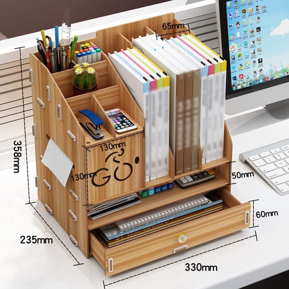 Desktop-Aufbewahrungsbox aus Holz Bürobedarf Ordner Schublade Büroregal (3 Farben, 3 Styles) (Farbe   SCHWARZ, größe   33.5×25.5×29cm) B07L92B7F5    | Züchtungen Eingeführt Werden Eine Nach Der Anderen