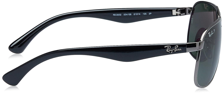 d8ab7343e34 Amazon.com  Ray-Ban RB3502 004 58 Polarized Aviator Sunglasses 61mm  Ray-Ban   Clothing