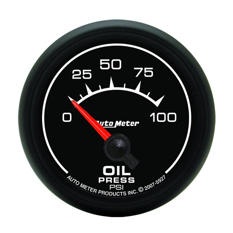 Auto Meter 5927 ES 2-1/16'' 0-100 PSI Short Sweep Electric Oil Pressure Gauge