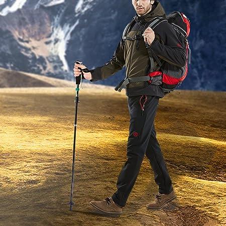 OUTAD Alpenstock- Bastón de Senderismo,Trekking y Esquí para Todo el Año(hay un sistema de plegado más rápido)