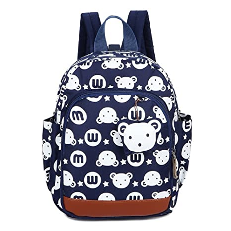 CUILEE Mochila Infantil Bolsa de Escuela PequeñA Bebes Guarderia Bolsa,Azul Oscuro